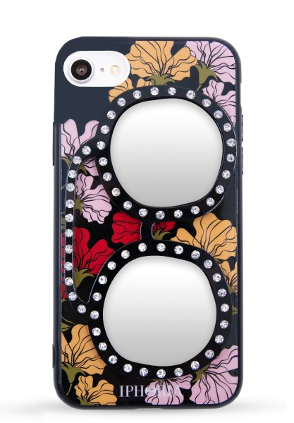 3D Case For Apple iPhone 7/8 - Floral Love With Glasses - 1