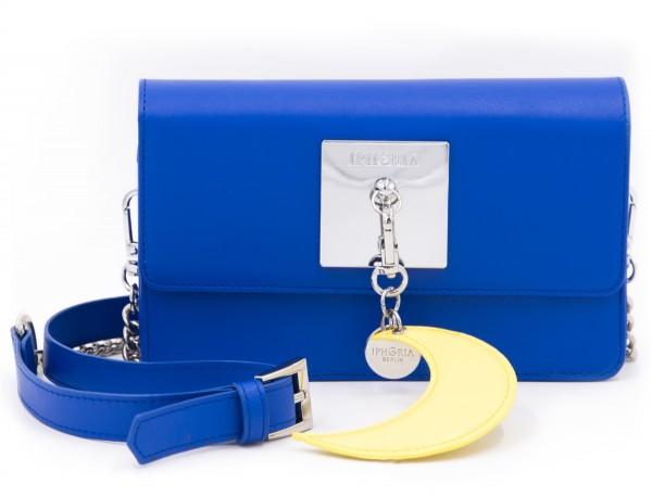 Micro Shoulder / Belt Bag - Plate Blue with Charm 1