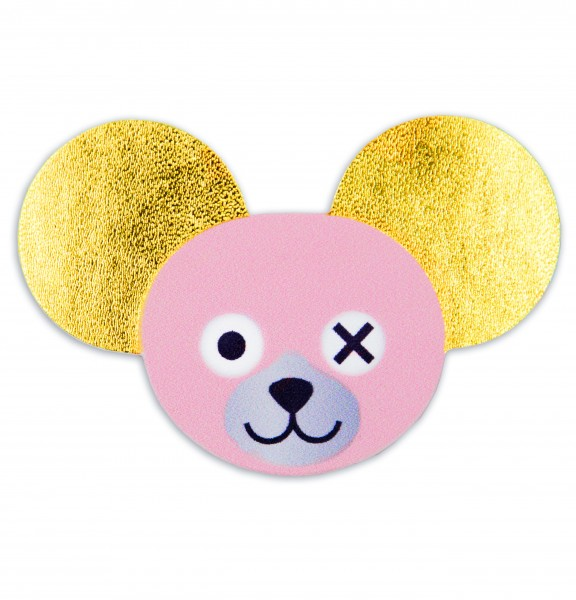 Sticker Rose Teddy Head with Golden Ears 1