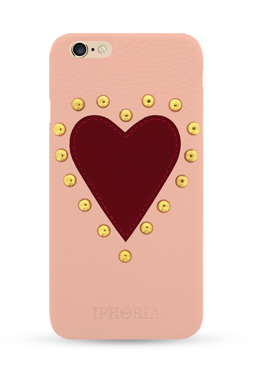 rose heart patch case with rhinestones for apple iphone 6 6s cases iphoria. Black Bedroom Furniture Sets. Home Design Ideas