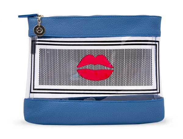 Inflight Bag - 1001 Nights Blue With Lips 1
