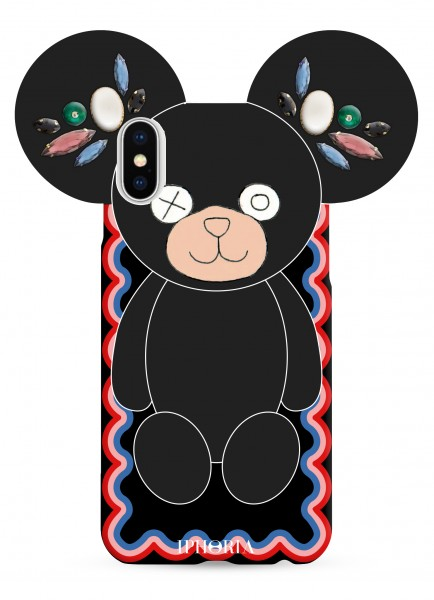 Case for Apple iPhone X/Xs - Teddy Black  1
