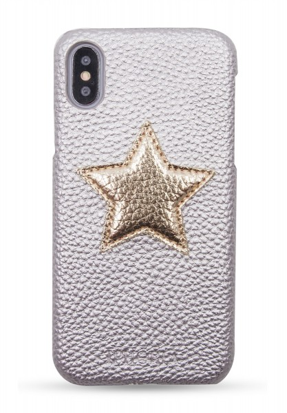 Veggie Leather Case for Apple iPhone X/XS - Star Gold 1