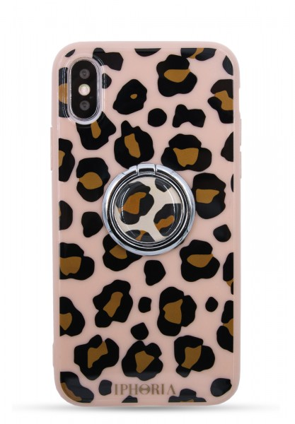 Case for Apple iPhone X/Xs - Ring Happy Leo Print - 1