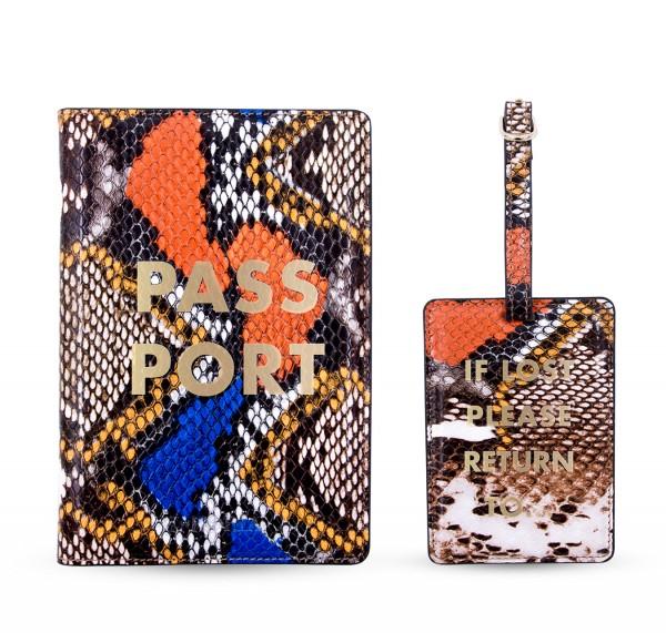 Travel Kit (Passport Holder + Luggage Tag) - Wild Snake 1