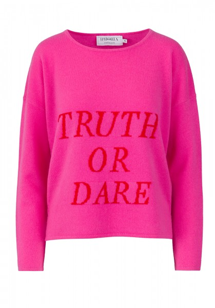 100% Cashmere Boxy Sweater - Pink Truth Or Dare - Size 1 1
