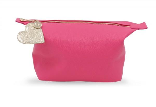 Washbag Pink mit Herz Anhänger 1