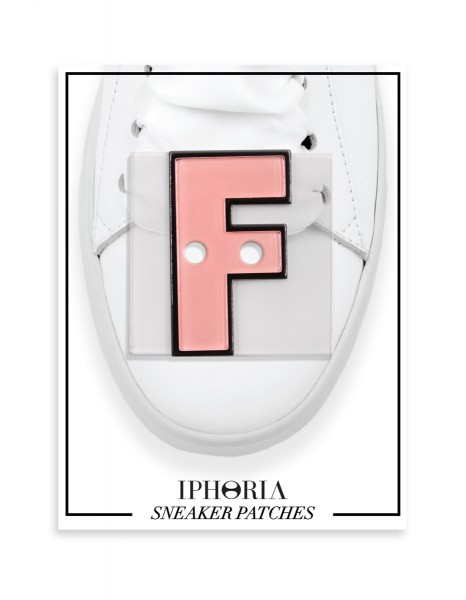 Acryl Sneaker Patches - Letter  F  Rose 1