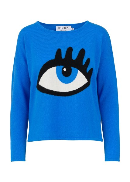 Cashmere Boxy Sweater -  Blue Eye Size 1 1