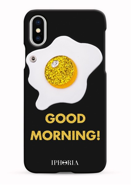 Case with Mirror for Apple iPhone X/XS - Good Morning Glitter 1