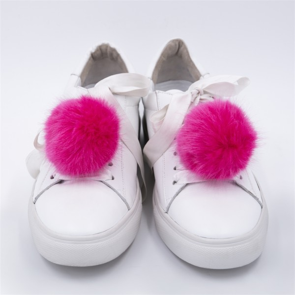 Sneaker Charm Set Fake Fur Hot Pink 1