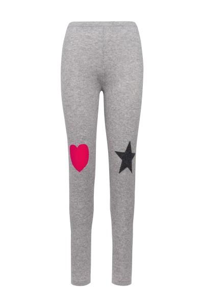 Cashmere Leggings Star & Heart. Größe 2 1