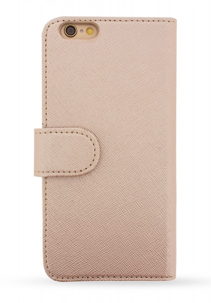 Rose Gold Saffiano Book Case für Apple iPhone 7 Plus/ 8 Plus 1