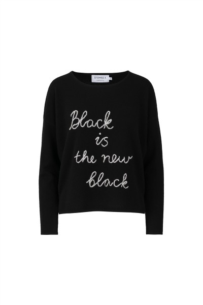 100% Cashmere Boxy Sweater - Black is the new black - Size 2 1