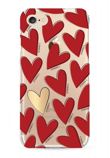 Case for Apple iPhone 7/8 - Hearts Red 1