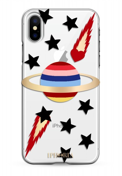 Case for Apple iPhone X/XS - Transparent Planet Multicolor 1