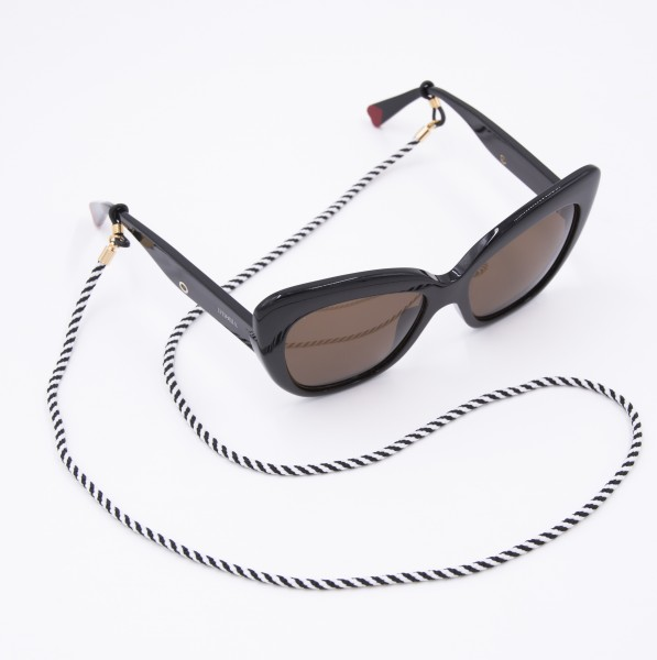 Glasses Strap Nylon - Black and White 1
