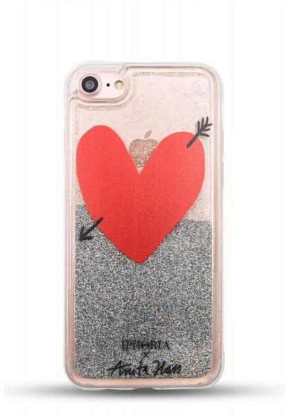 Iphoria X Anita Hass Liquid Glitter Case Heart for Apple iPhone 7/ 8 1