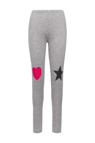Cashmere Leggings - Stars and Heart - Size 1 1