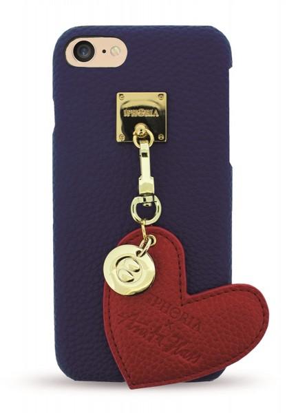 Iphoria X Anita Hass Lining Case Dark Blue mit rotem Herzanhänger für iPhone 7/ 8 1