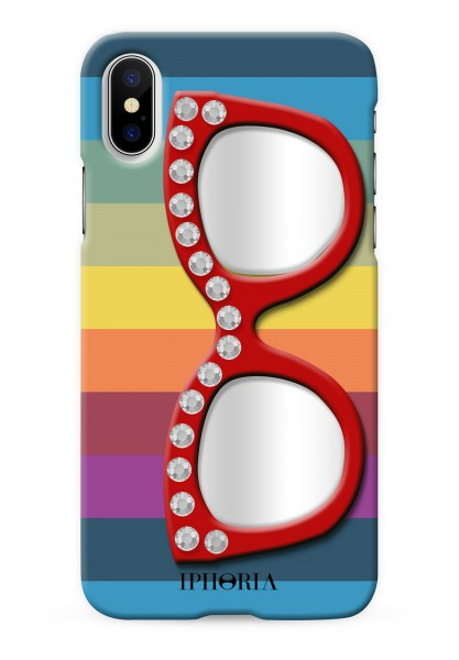 3D Case For Apple iPhone 7/8 - Rainbow Diamonds  With Glasses - 1
