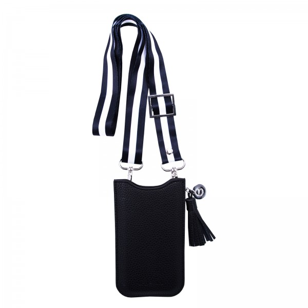 Necklace Sleeve Case for Apple iPhone 6/7/8/X/Xs  (Kombi) with Strap Black/White - Black 1
