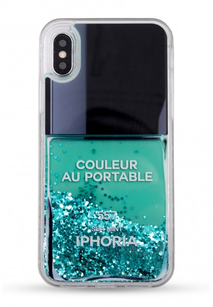 Liquid Case for Apple iPhone Xs Max - Nail Polish Turquoise 1