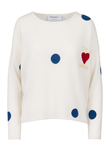 100% Cashmere Boxy Sweater - I'm A Lover - Size 1 1