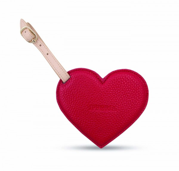 Luggage Tag - Heart Red  1