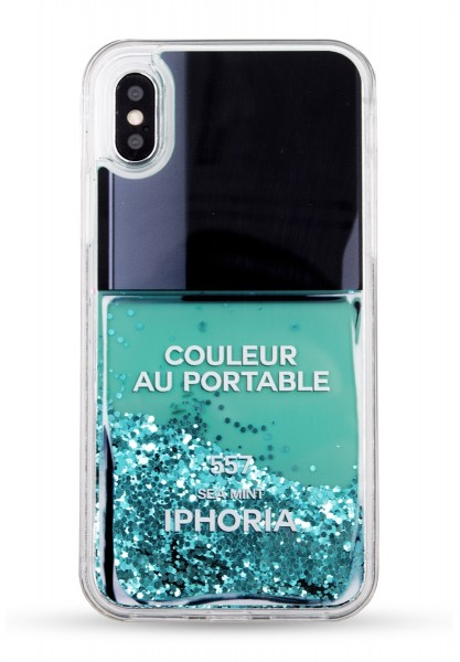 Liquid Case for Apple iPhone X - Nail Polish Turquoise 1