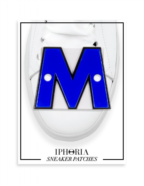Acryl Sneaker Patches - Letter  M  Dark Blue 1