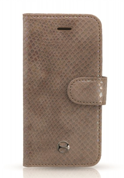 Snake Pliskin Beige Book Case für Apple iPhone 5/ 5S/ SE 1