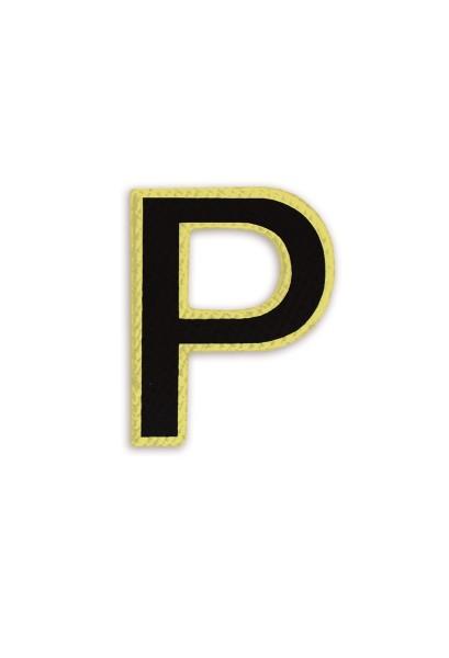 Ledersticker Letter P Black 1
