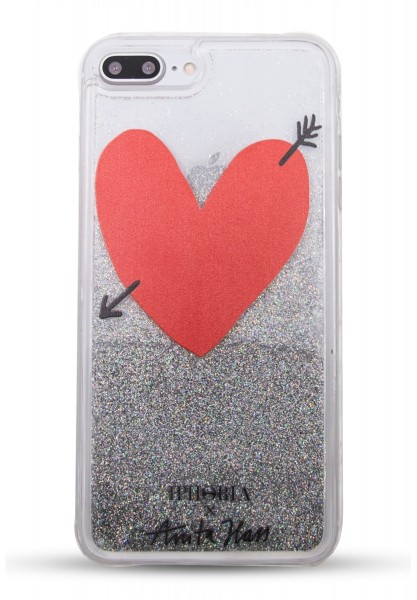 Iphoria X Anita Hass Liquid Glitter Case Heart für Apple iPhone 7 Plus/ 8 Plus 1