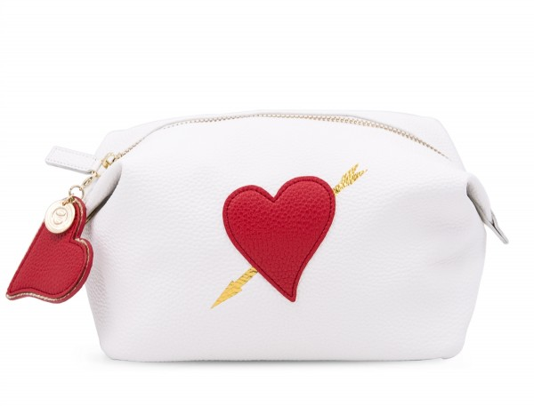 Washbag - White Big Heart 1