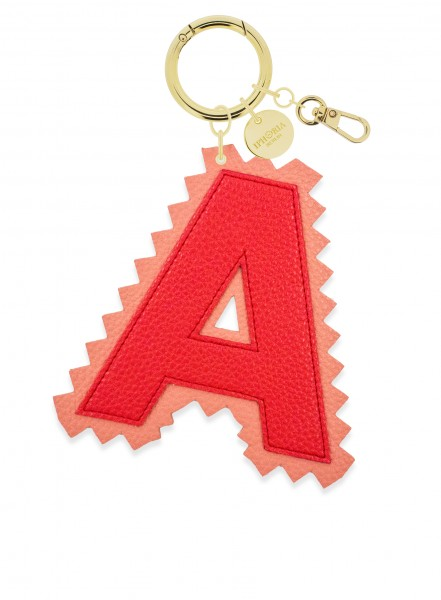XL Bag Charm Red Letter A 1