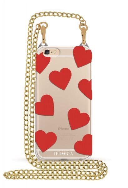Hearts Transparent für Apple iPhone 6/ 6S 1
