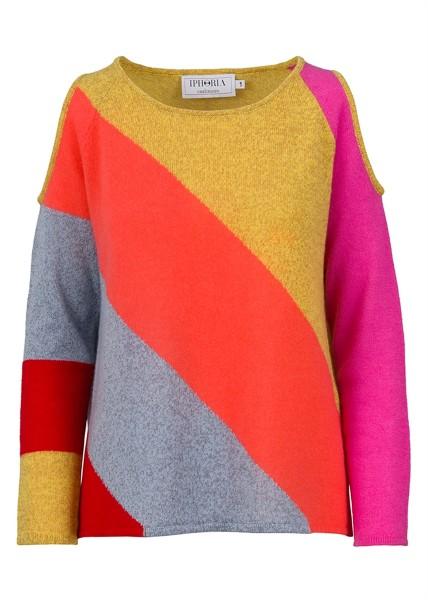 Cashmere Basic Jumper Stripy Colours Size 2 1