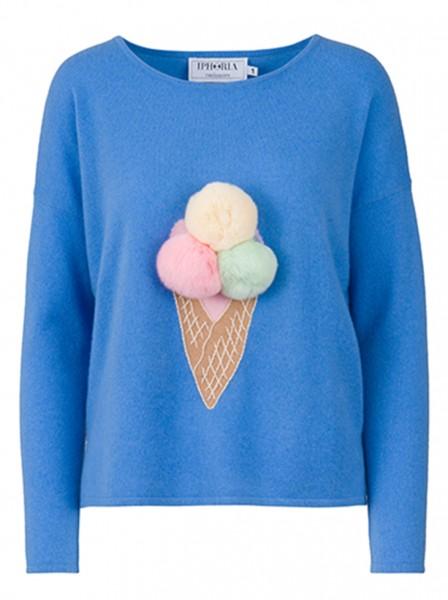 100% Cashmere Boxy Sweater - Blue Summer Feelings - Size 1 1