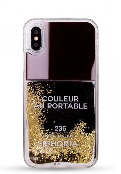 Liquid Case for Samsung Galaxy Note 9 - Nailpolish Black Gold 1