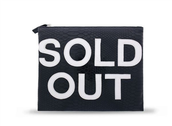 Cosmetic Bag Sold Out Black/White  1