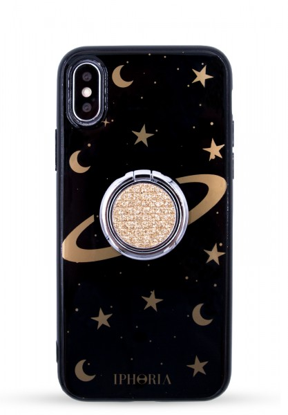 Case for Apple iPhone X/XS - Gold Ring with Cosmic Sky 1