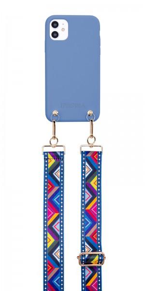Artikelbild 1 des Artikels Necklace Case - Soft Touch Blue Ethno iPhone 12/ 1
