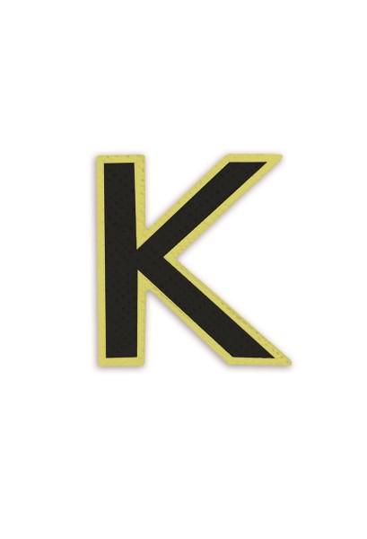 Ledersticker Letter K Black 1