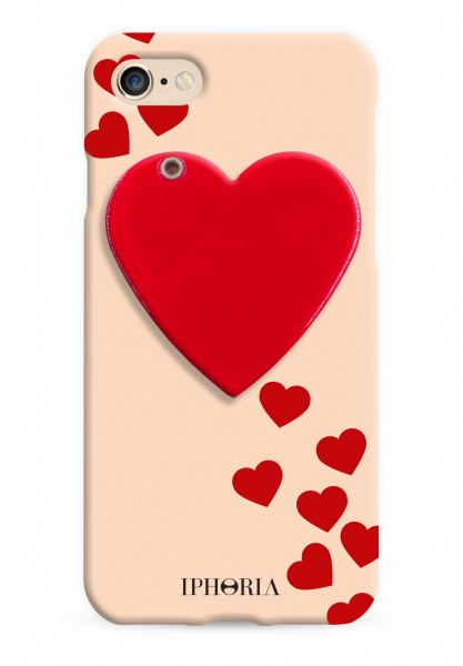 Mirror Case Red Heart for iPhone 7/ 8 1