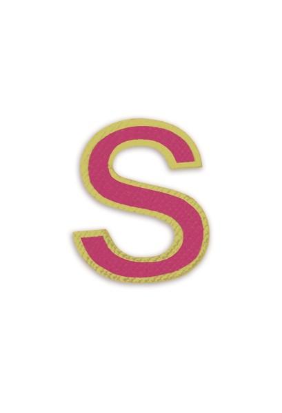 Ledersticker Letter S Magenta 1