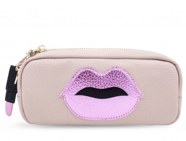 Mini Power Purse Pink Lips with Lipstick Charm 1