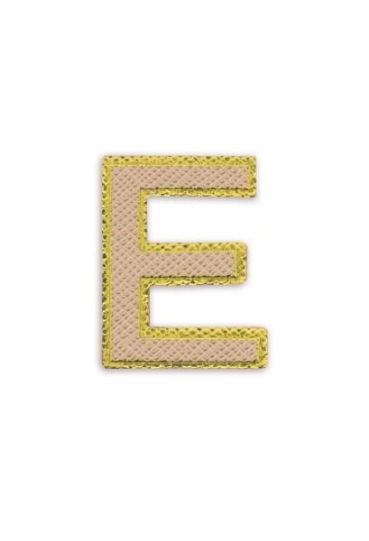 Ledersticker Letter E Rose Gold 1