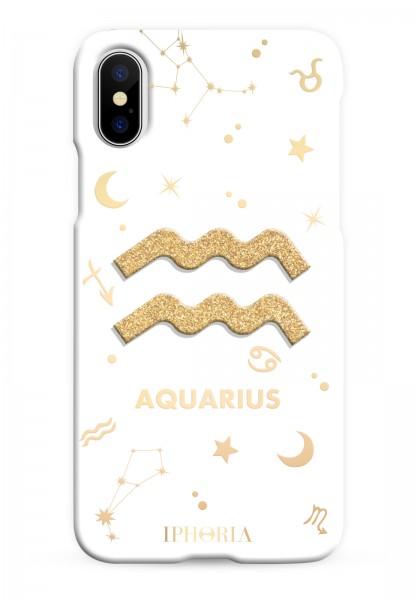 3D Case for Apple iPhone X/XS - Zodiac Aquarius 1