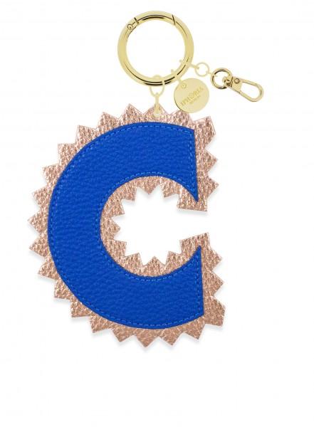 XL Bag Charm Blue Letter C 1